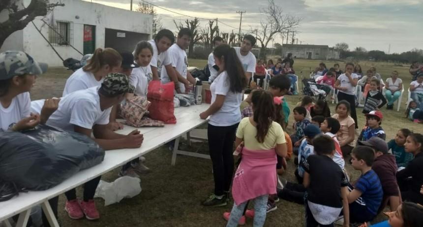 Actividades comunitarias en el Paraje Las Delicias