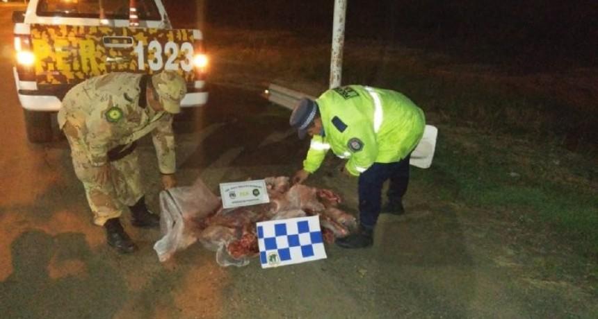 La Policía de Entre Ríos decomisó carne y secuestró armas de fuego