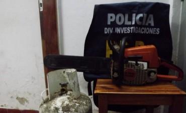 Se recuperan elementos robados e informe de un choque