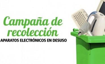 Este jueves se inicia la Campaña de Recolección de Residuos Eléctricos y Electrónicos