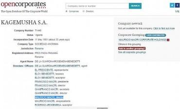 UIF confirmó que Macri era director de una empresa offshore