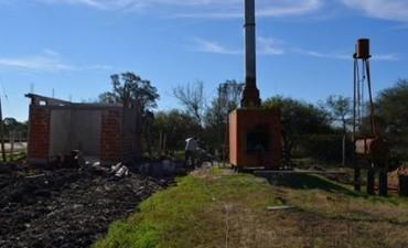 Se construye la nueva sala para el deposito de residuos patológicos