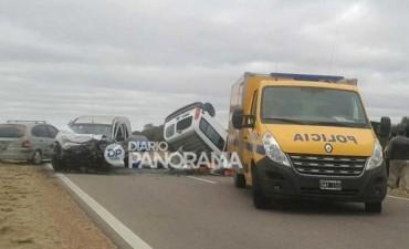 Cinco muertos por choque frontal entre dos combis en Santiago del Estero