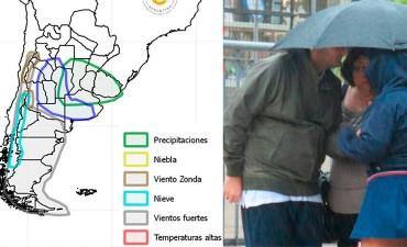 Alertan por lluvias de hasta 100 milímetros en Entre Ríos
