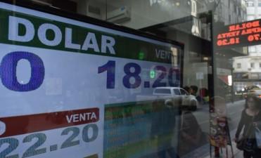 El dólar cerró por primera vez por encima de los 18 pesos