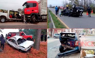 Fin de semana trágico en rutas entrerrianas: Dos muertos y muchos heridos
