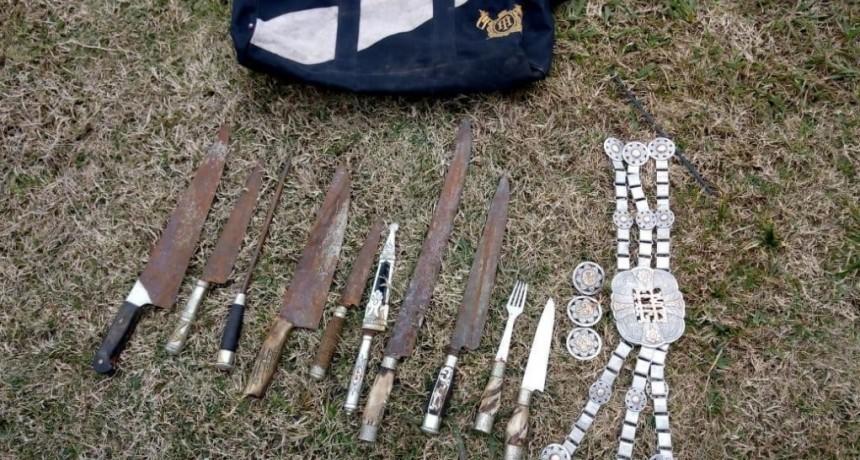 Recuperan parte de  elementos robados en la Estancia Don Manuel .