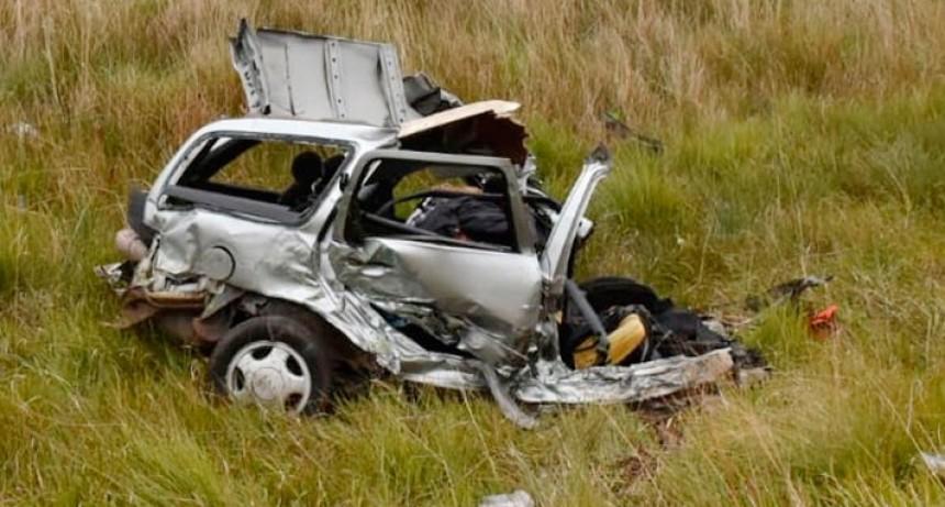 Accidente fatal en Ruta 14: Un hombre murió por choque entre auto y colectivo