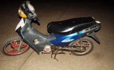 Policía recupera una moto robada y parte de otra