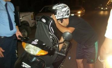 Tránsito urbano, controles de vehículos y  motos del fin de semana