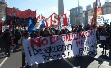 Día de marchas y piquetes en CABA y Gran Buenos Aires