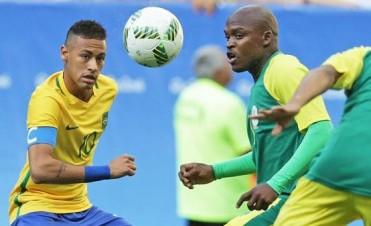 La selección de fútbol de Brasil empató con Sudáfrica en su debut en los Juegos Olímpicos