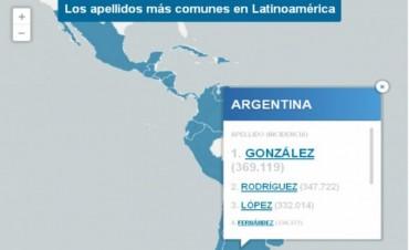 González es el apellido más común en la Argentina