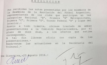 Avanza la denuncia de los clubes del Ascenso contra la Comisión Regularizadora