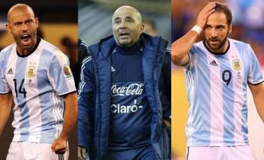 Sampaoli comienza la renovación de la Selección Argentina borrando a dos históricos