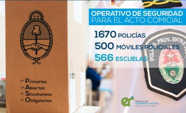 Custodiarán los comicios 1.670 policías en 500 móviles