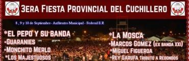 """Federal se viste de fiesta en septiembre, se viene la 3* Fiesta Provincial del Cuchillero en el Anfiteatro Francisco """"Pancho"""" Ramírez, organizado por el Club Social y Deportivo Talleres"""