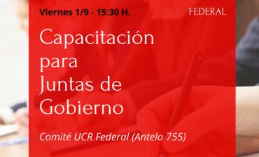 Federal : Jornada de Capacitación para miembros de Juntas de Gobierno