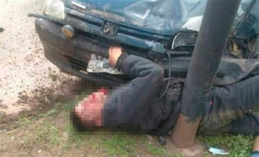 Un carnicero persiguió a un delincuente y lo aplastó con el auto