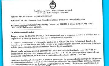 Argentina autorizó importación de carne vacuna brasileña
