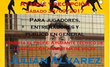 Importante clínica de Voley con Julian Alvarez en Sauce de Luna