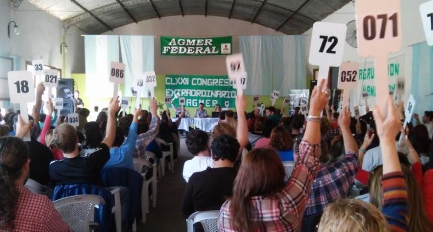 Agmer convocó a congreso extraordinario
