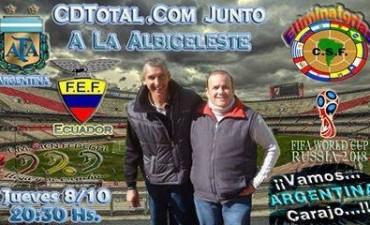 Al partido de Argentina y Ecuador escuchalo por FmCienFederal