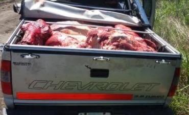 Brigada Abigeato detiene vehículo con carne de dudosa procedencia