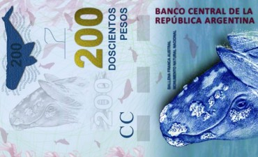 Hay fecha para el lanzamiento del billete de $ 200 con la Ballena Franca Austral