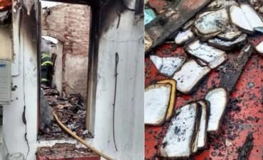 Dejaron nota de amenaza contra Vidal en tribunal de San Martín incendiado