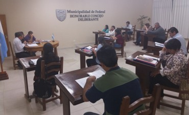 Nueva sesión del Concejo Deliberante .