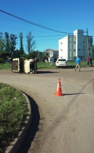 Accidente en Colectora Aguirre Almada