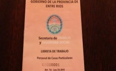Entre Ríos: Personal de casas particulares podrá acceder a su Libreta de Trabajo
