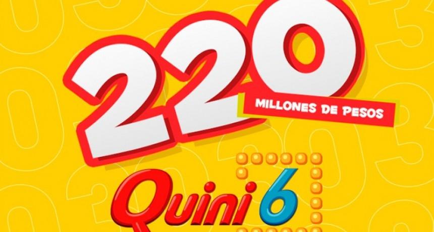 El Quini 6 pondrá en juego el domingo 220 millones de pesos