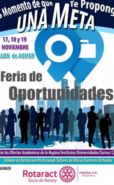 Se viene la Feria de Oportunidades para los estudiantes secundarios y comunidad  de Federal