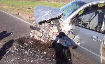 Choque frontal en la ruta 22 con tres personas fallecidas