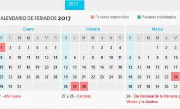 El Año próximo habrá 17 feriados nacionales y 10 fines de semana largos