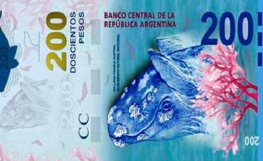 El sábado comenzará a circular el nuevo billete de 200 pesos