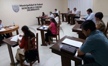 Sesión Ordinaria del Concejo Deliberante de Federal .