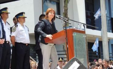 En el marco de un fuerte dispositivo de seguridad se inauguró la Delegación Chajarí de la PFA con la presencia de la Ministra Bullrich