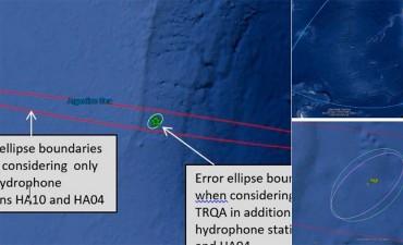 Reducen radio de búsqueda del submarino, tras nueva precisión sobre la explosión