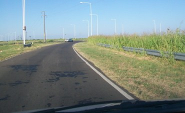 Las malezas obtaculizan la visibilidad en el cruce de rutas