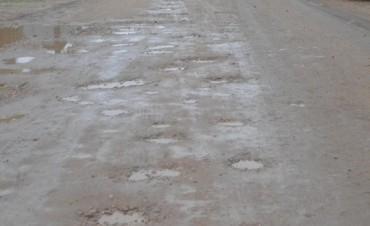 El mal estado de las calles y caminos luego de las intensas lluvias