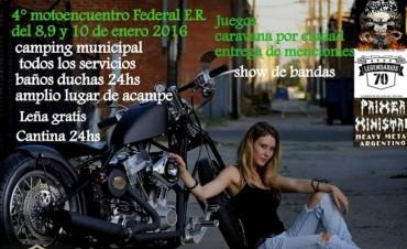 En Enero, Federal recibe a motoqueros en el 4to. Motoencuentro Solidario