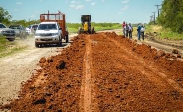 Avanzan los trabajos de recuperación de la ruta 20 entre Villaguay y Federal