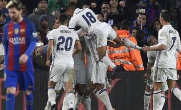 Sobre la hora, Real Madrid le empató a Barcelona y sigue en lo más alto