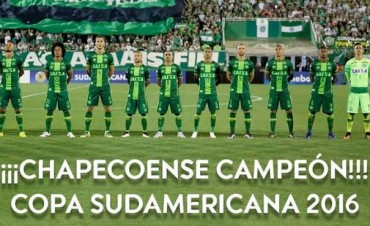 Conmebol declaró al Chapecoense campeón de la Copa Sudamericana