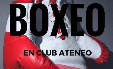 SE ORGANIZA UNA VELADA BOXISTICA EN EL CLUB ATENEO