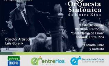 CONCIERTO DE LA ORQUESTA SINFÓNICA DE ENTRE RÍOS