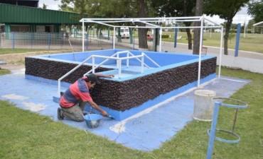Se invierte en el acondicionamiento de los distintos sectores del Complejo Polideportivo